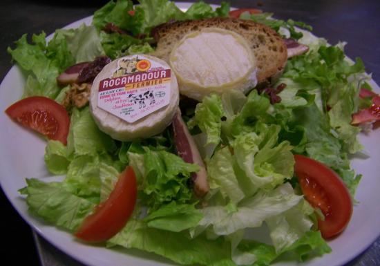 Gramat, France : la salade rocamadour