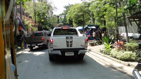 Dusit Zoo: Cars in the zoo is strange....