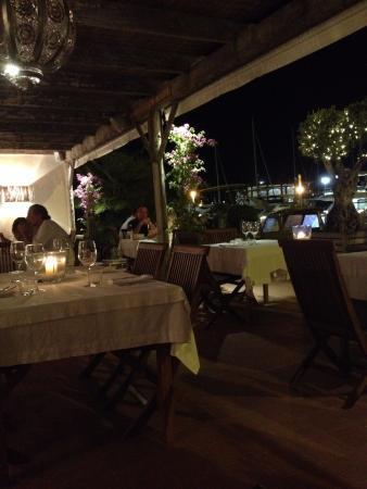 Aigua: Terrasse du restaurant