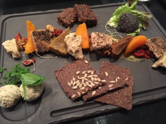 spectacular and delicious raw nut cheese plate with house made
