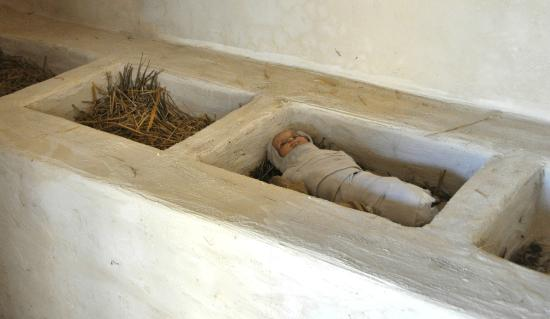 LaGrange, Géorgie : What a manger looked like in the ancient world