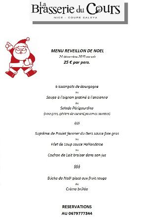 Restaurant la brasserie du cours dans nice avec cuisine - Idee repas noel ...