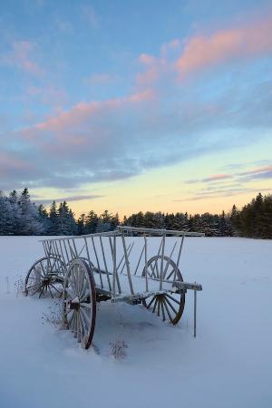 Ellsworth, ME: EB White's Wagon (canvas artwork)