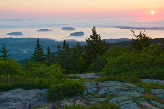 Ellsworth, ME: Cadillac Mountain Sunrise (canvas artwork)