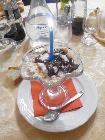 Poggio Moiano, Italia: Sbrisolona con nutella