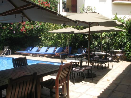 The African Tulip: Very relaxing pool area, with bar