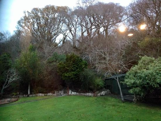 North Kessock, UK: view of the back garden from the back family room
