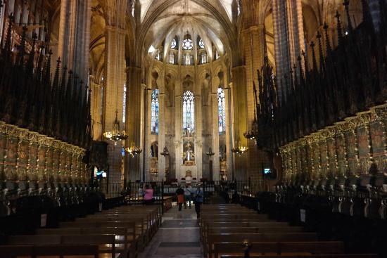 interior da catedral fotograf a de catedral de barcelona