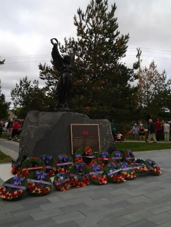 Cenotaph, Memorial Day 2015 Gander Heritage Memorial Park
