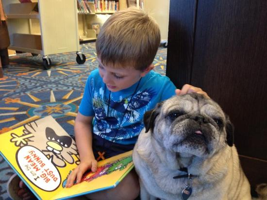 Camarillo Public Library: Awwww....reading to our PAWS team