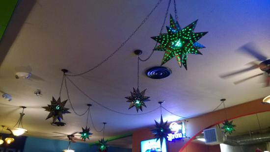 El Charro Mexican food and cantina: Lighting fixtures