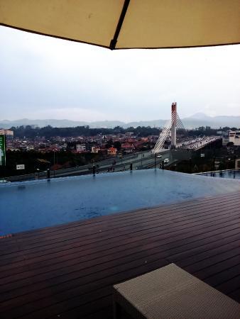 view from the pool deck picture of grandia hotel bandung rh tripadvisor co uk