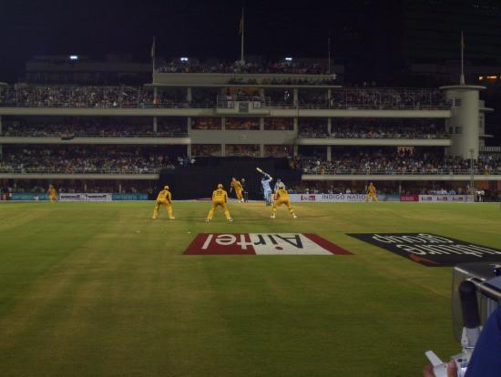 Cricket Club of India : View of the main pavilion during an international match