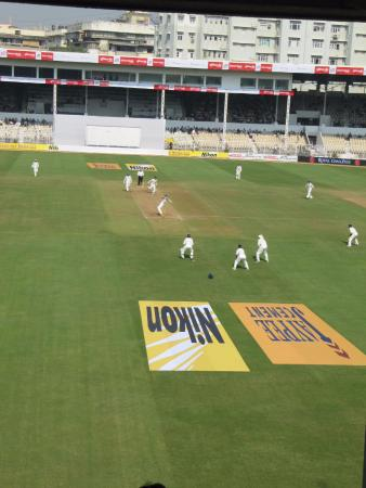 Cricket Club of India : View of international match in progress from room