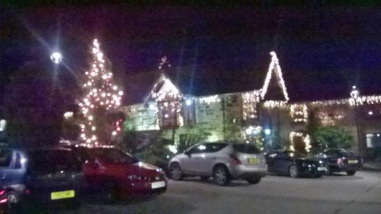 Roosters Bar & Restaurant at Morley Hayes: All lit up
