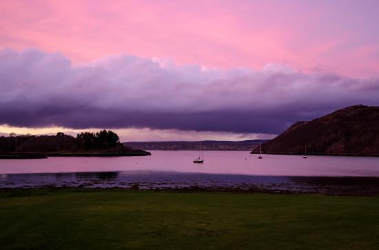 Gairloch, UK: View at Dusk from Bedroom Window