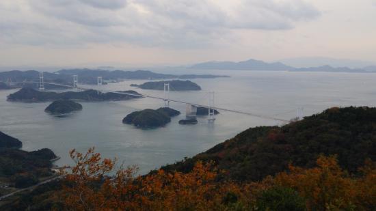 亀老山展望公園, 来島海峡大橋を望む