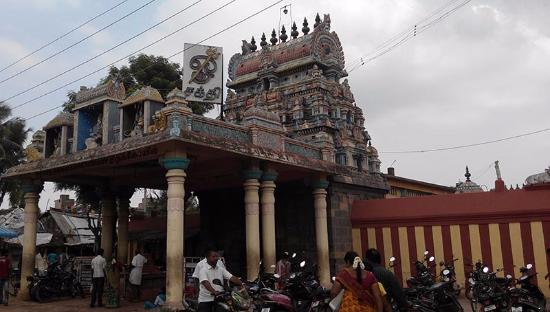 Chidambaram, Inde : Temple Front view