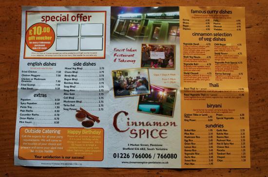 Cinnamon Spice: take away menu - page 2