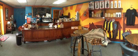 Rutherfordton, NC: The espresso bar serving our fresh roasted coffee