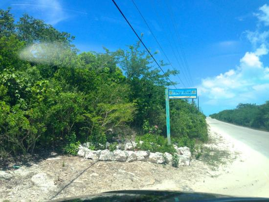Out Islands: Always make a left at the Percy sign.