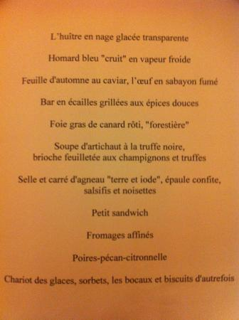 Photo de restaurant guy savoy paris for H kitchen paris menu