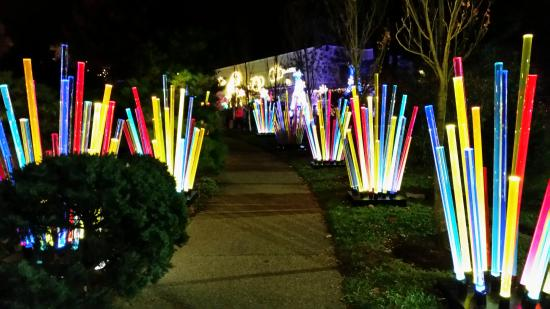 phipps conservatory and botanical gardens out door path at the phipps christmas light show