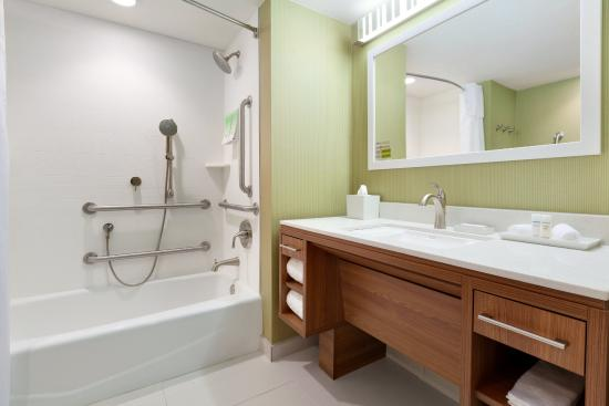 Accessible bathroom at the home2 suites gillette wy hotel for Bathroom suites direct