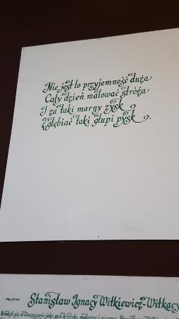Wiersz Witkacego Picture Of Muzeum Pomorza Srodkowego W