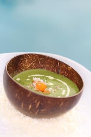 Pine Cay: One of our many delicious soups