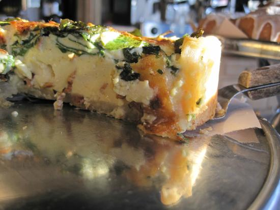 Pine Cay: Bacon, Cheddar, Kale Breakfast Quiche