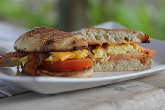 Pine Cay: Breakfast sandwich