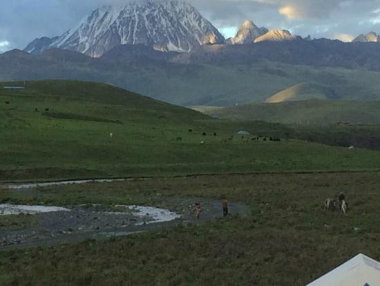 Kangding County, الصين: View from the rooms