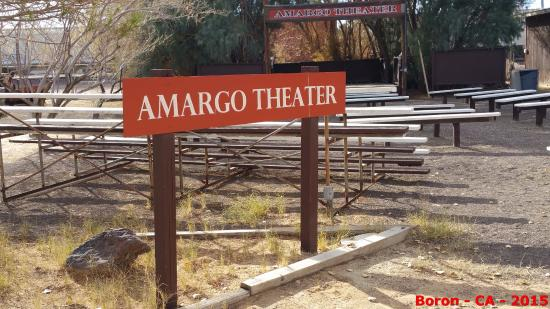 Boron, CA: outdoor stage and seating