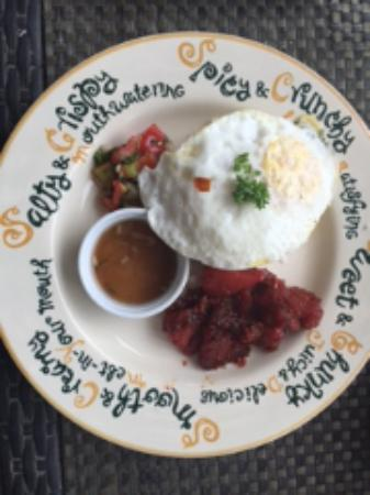 The Cocoon Boutique Hotel: Pork Tocino with Sunny Side-up Egg & Garlic Rice