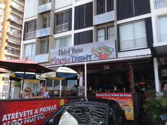Third Base Sports Cafe : View from the beach