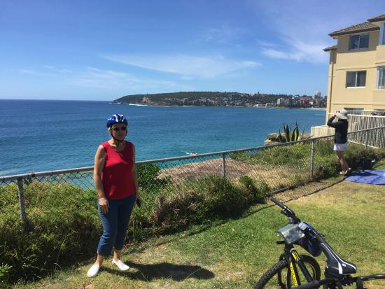 Manly Bike Tours and Bike Hire : View of Manly from Freshwater Hill