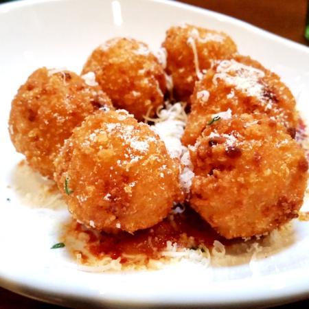 Delicious Crispy Risotto Bites Picture Of Olive Garden