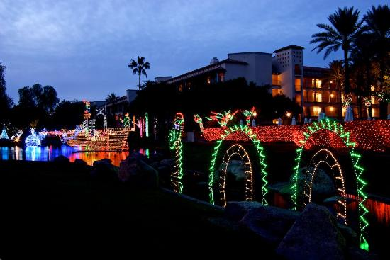 Main Christmas tree with sound & light show at Christmas at the ...