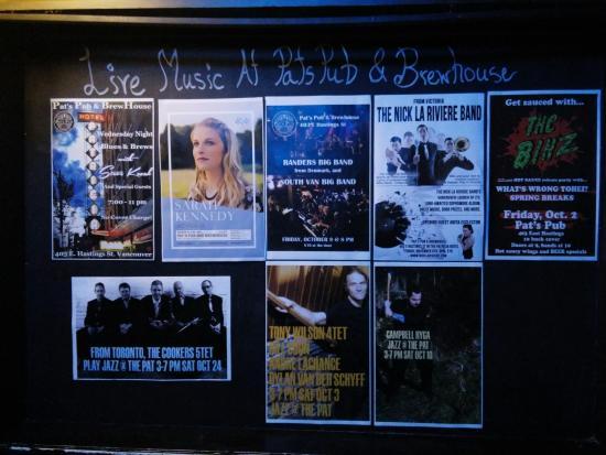 A Variety of Entertainment at Pat's Pub