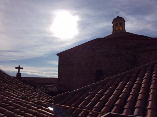 Santa Maria Hostal: on the rooftop