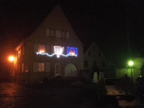 Kientzheim, Frankrike: décoration pour Noël
