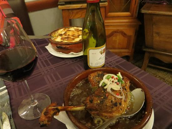 Mercurey, France : Husband's choice - confit of duck