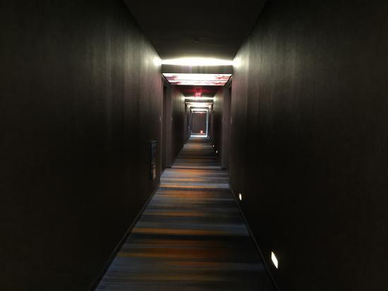Aloft College Station: Oddly Dark Hallway