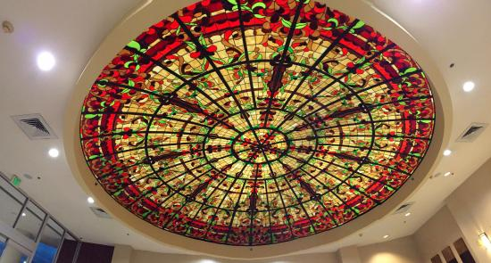 The Grand Hotel : This was the ceiling in the lobby