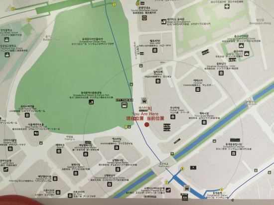 Map around Dongdaemun Picture of Dongdaemun Shopping Complex