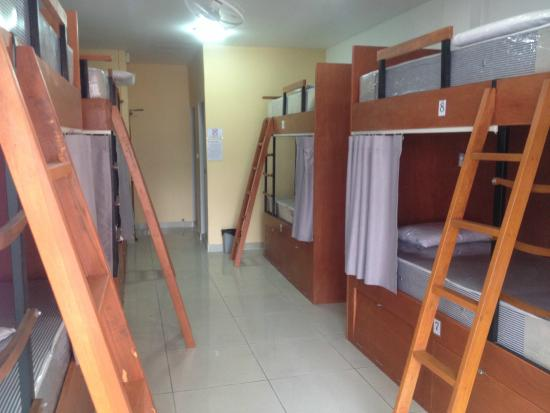 Bunk Beds In Dorm Room Privacy Curtain Lockers Picture Of Jomtien