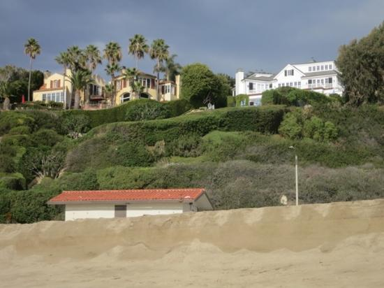 . Houses along cliffs behind beach   Picture of Westward Beach  Malibu