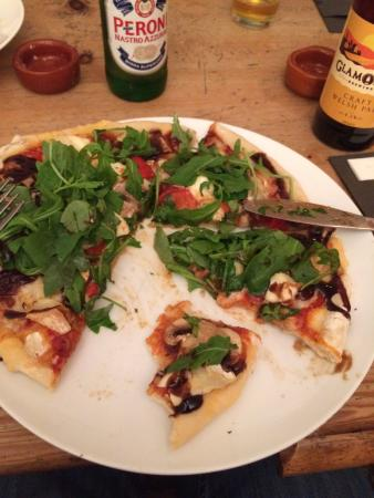 Snails: Goats Cheese Pizza