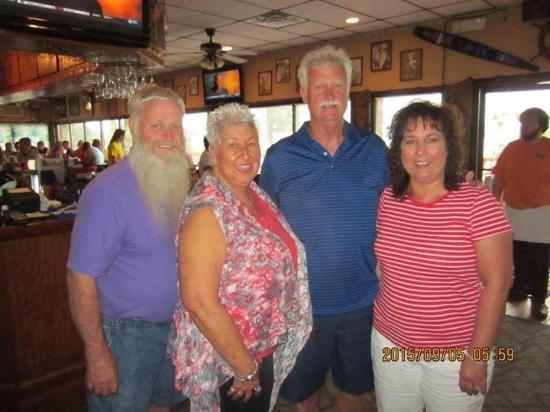 Aris' Harbor Light: Left to right:  Jim & Darlene Varner with cousin, Jerry (the honored) and Carol Wright